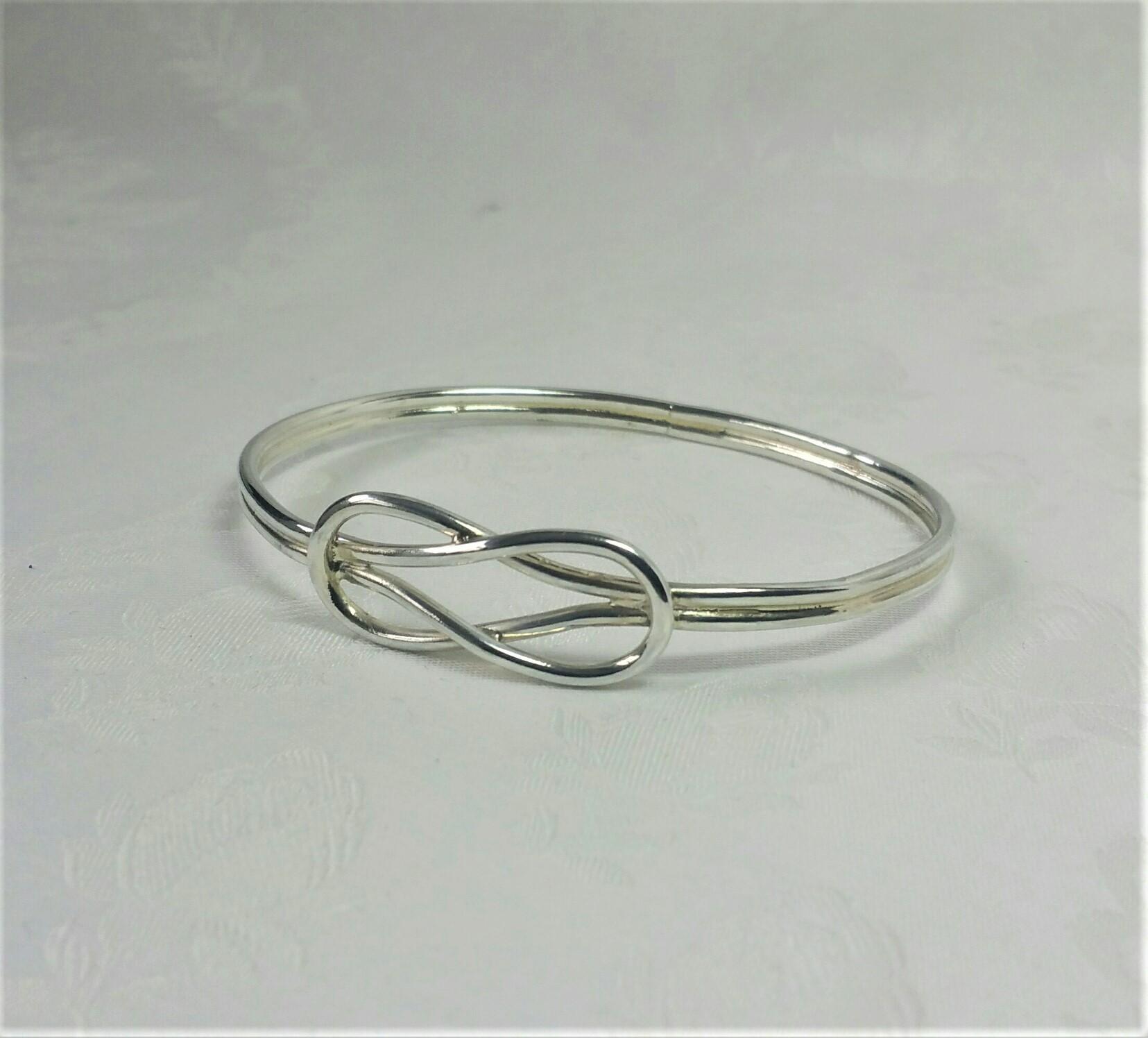 Roman Hercules Knot Bangle Gemmeus Handcrafted Designer Maker Jewellery